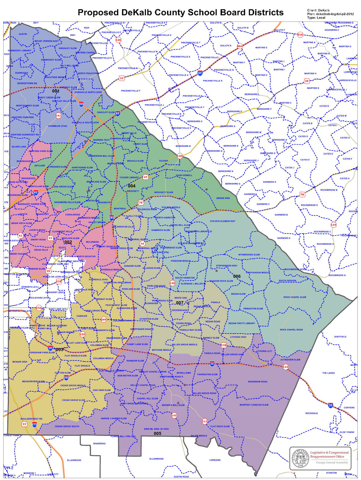 Final District Representative Map Approved | dekalb ... on