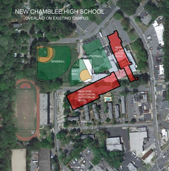 Chamblee Charter High School Planned Layout