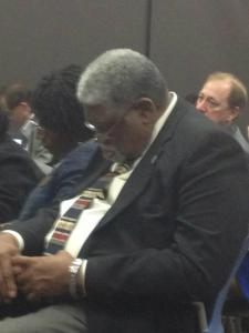 Gene Walker just can't stay fully awake at the state hearing