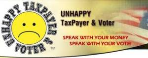unhappy taxpayer and voter logo