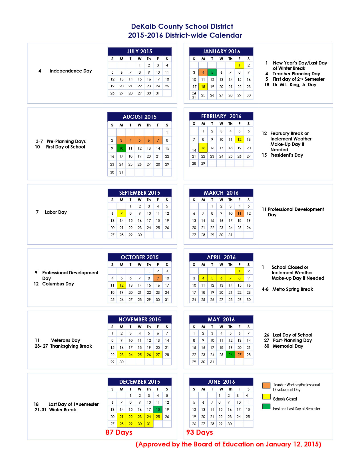 Hawaii Doe 2016 Academic Calendar | Search Results | Calendar 2015